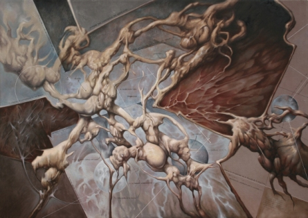 """Contra Natura"" Oleo/tela 120x180 cms."
