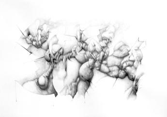 """Némesis"" Grafito/papel 70x100 cm 2010"