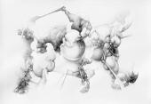 """Otredad"" Grafito/papel 70x100 cm 2007"