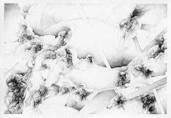 """""""Procesión"""" Grafito/papel 70x100 cm 2005"""