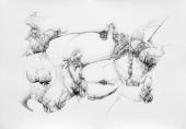 """""""Restos"""" Grafito/papel 70x100 cm 2006"""