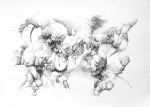 """Un poco de veneno"" Grafito/papel 70x100 cm 2006"