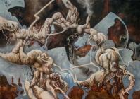 """bipolar"" Oleo/tela 120 x 180 cms 2008"