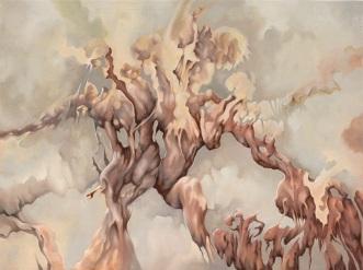 """""""La invención de Auster"""" Oleo/tela 90 x 120 cms. 2014"""