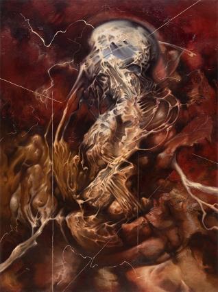 """Pneuma"" Oleo/tela 120 x 90 cms. 2013"